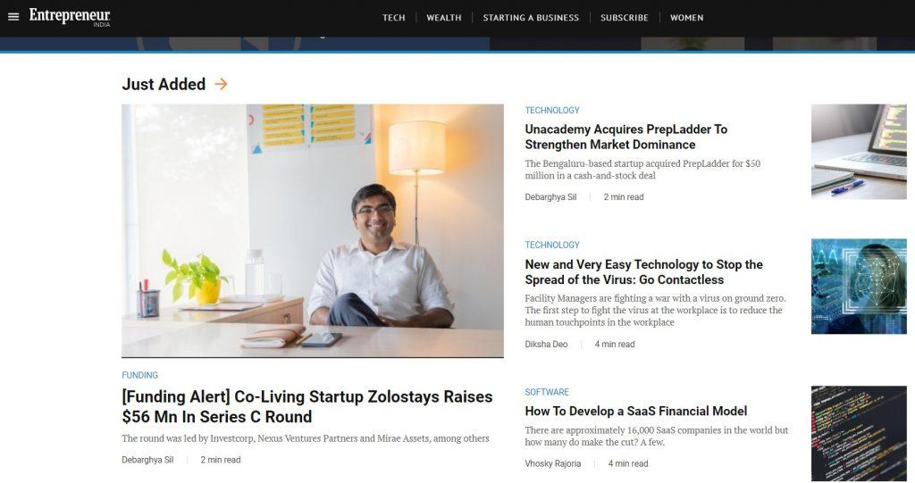 Entrepreneur.con startup blog
